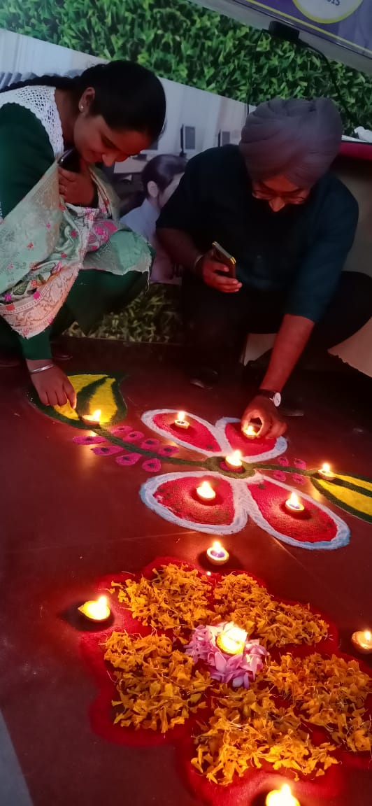 May the Diwali lights brighten your life and Rangoli add more colours to it. Have a blessed Diwali!